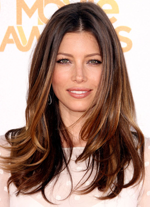 Ombre Dark Brown Hair with Highlights