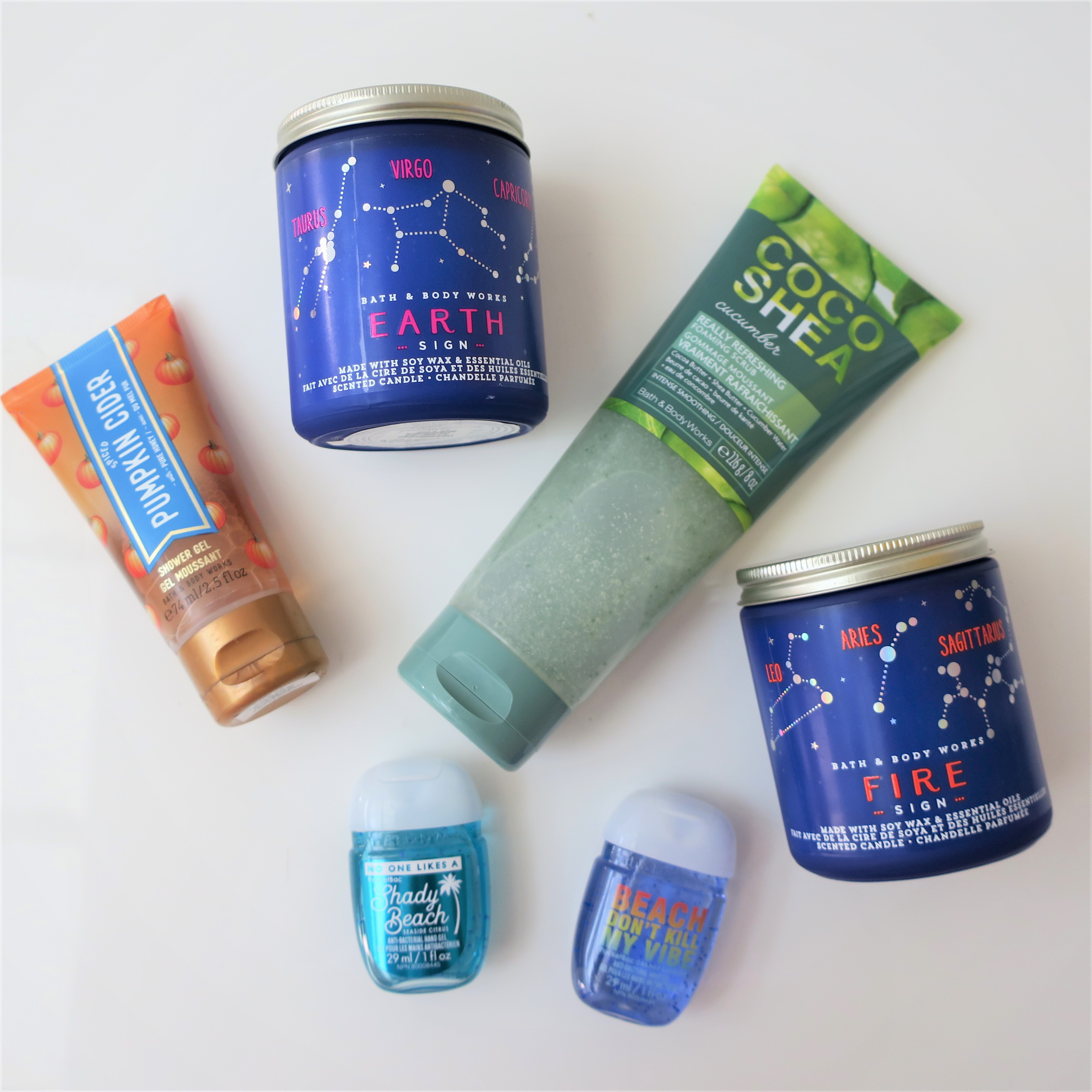 During My Visit To Bath And Body Works Here I Picked Up A Handful Of Really Fun Stuff X2 Zodiac Candles Deliciously Scented Shower